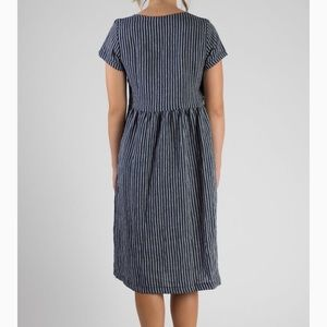 310d5bb2d8f Pyne and Smith Clothiers Dresses - Pyne and Smith Clothiers Linen Striped  Dress